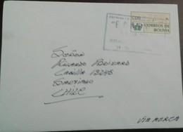 O) 1990 BOLIVIA , ATM CIRCULATED - CDB CORREOS DE BOLIVIA, AIRMAIL TO CHILE, XF - Bolivia