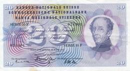 Billet De Banque Suisse 20 Francs 1963 - Suisse