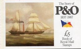 1987 £5 Prestige P&O Booklet DX8 - Booklets