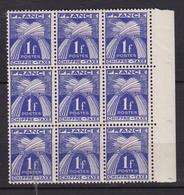 FRANCE Timbre Taxe N° 70°  (bloc De 9) - 1859-1955 Mint/hinged