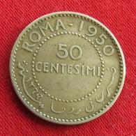 Somália 50 Centesimi 1950 KM# 4 Silver Somalie - Somalie