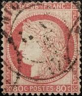 FRANCE Y&T N°57 Cérès 80c Rose. Oblitéré CàD  Niort - 1871-1875 Cérès