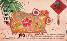 Northern Mariana Islands - NMI-MT-14, Mtc,Year Of The Pig, Chinese New Year, 10U, 1995, Used - Northern Mariana Islands