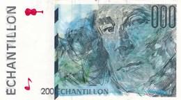 BILLET ECHANTILLON RAVEL CORRESPONDANT AU 200 FRANCS EIFFEL - Fictifs & Spécimens