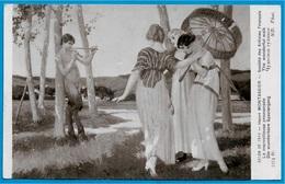 "CPA Art SALON 1914 - Henri MONTASSIER ""La Merveilleuse Promenade"" * Tableau Peinture Faune - Malerei & Gemälde"