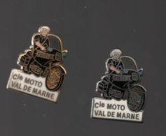 Pin's COMPAGNIE MOTORISEE DE POLICE VAL DE MARNE PAR COURTOIS PARIS........BT3 - Police