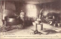 Cpa--SALINS-les-BAINS.INTERIEUR DE LA FROMAGERIE DE BLEGNY ( Fabrication Annuelle 2.100kgs De GRUYERE ) CARTE NON ECRITE - France