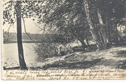 EXCURSION AU HERISSON. BORDS DU LAC DE BONLIEU . AFFR AU VERSO LE 13-8-1907 . 2 SCANES - Frankreich