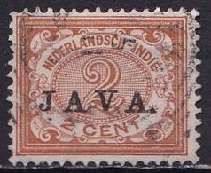 Ned. Indië: 1908 Cijferserie Overdrukt Met JAVA 2 Cent Bruin NVPH 65 - Indes Néerlandaises