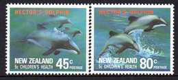 NEW ZEALAND, 1991 HEALTH/DOLPHINS 2 MNH - New Zealand