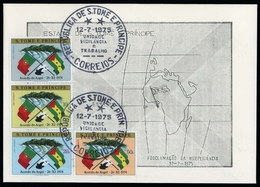 1975, St. Thomas Und Prinzeninseln, 422-25, FDC - São Tomé Und Príncipe