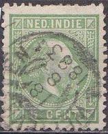 Ned. Indië: 1870 Koning Willem III 5 Cent Groen Kamtanding 12 ½ : 12 Gr. G.  NVPH 8 F - Indes Néerlandaises