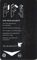 JW Marriott Hotel Room Key Card With Large Insert Arrow - Hotel Keycards