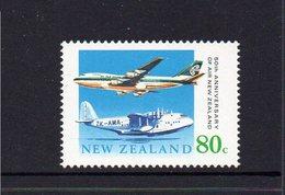 NEW ZEALAND, 1990 AIR NZ ANNIVERSARY MNH - New Zealand