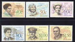 NEW ZEALAND, 1990 HERITAGE ACHIEVERS 6 MNH - New Zealand