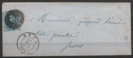 """LSC Affr. N°11A P58 Càd """"HEER/21 MAI/1859"""" Pour Artiste-peintre à FOSSES - Boîte """"M"""" (au Dos: Càs FOSSE) - 1858-1862 Médaillons (9/12)"""