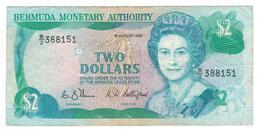 Bermuda, 2 Dollars 1989, VF. - Bermuda