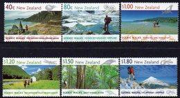 NEW ZEALAND, 1999 SCENIC WALKS 6 MNH - Nuevos