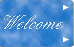 Generic Welcome Room Key Card With Www.plicards.com On Back With PVC Free Logo - Hotel Keycards