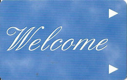 Generic Welcome Room Key Card With Www.plicards.com On Back - Hotel Keycards