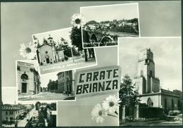 CARTOLINA - MONZA - CV637 CARATE BRIANZA (Monza MB) 5 Vedutine, FG, Viaggiata 1968, Ottime Condizioni - Monza