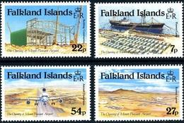 Falkland Islands 1985.   Opening Mount Pleasant Airport. Aircraft Aviation Airships. MNH - Islas Malvinas
