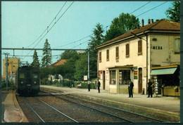 CARTOLINA - MONZA - CV1224 MEDA (Monza MB) Stazione FNM Con Treno, FG,  Non Viaggiata, Ottime Condizioni - Monza