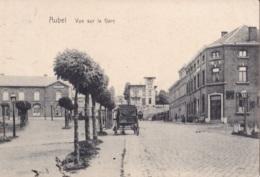 Aubel Vue Sur La Gare Circulée En 1908 - Aubel