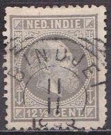 Ned. Indië: BINDJEI Op 1870 Koning Willem III 12 ½  Cent Grijs Kamtanding 12½ Kl. G. NVPH 10 H - Indes Néerlandaises