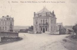 Marchin Place De Belle-Maison Le Châlet Et Le Bureau Des Postes Circulée En 1910 - Marchin