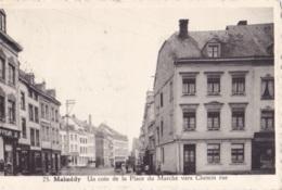Malmédy Un Coin De La Place Du Marché Circulée En 1950 - Malmedy