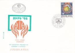Yugoslavia FDC 1988 Basketball (0017) - Basketball