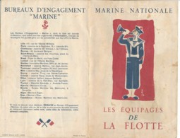 AC -B3473- Notice Marine Nationale  - Les équipages De La Flotte   (détails  Scans Multiples - Prix Frais Compris) - France