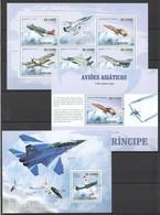 C209 2009 S.TOME E PRINCIPE AVIATION AVIOES ASIATICOS 1KB+2BL MNH - Airplanes