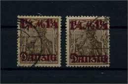DANZIG 1920 Nr 42I+III Gestempelt (109647) - Dantzig