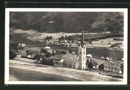 AK Techendorf / Weissensee, Ortsansicht Mit Kirche Und See - Autriche