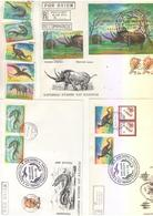 Dinosaurs Prehistorics  Kazakhstan 7 FDC + 5 Stamps - Preistorici