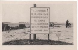COURSEULLES SUR MER   STELE ELEVEE SUR LE LIEU DE LA PRISE DE CONTACT DU GENERAL DE GAULLE - War 1939-45