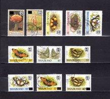Swaziland   1984-90   .  Y&T  Nº    470-471-512/513-515/516-518-520-574/575-577 - Swaziland (1968-...)