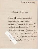 Courrier Au Général Sénateur / 1869 /Autographe Henri, Cardinal Archevêque Rouen / Promotion Commandant Légion Honneur - Médailles & Décorations