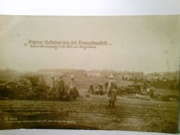 Original - Aufnahme Vom östl. Kriegsschauplatz. Batterie Verschanzung In Der Nähe Von Margrabowa / Marggrabowa - Militaria