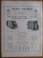 1926 - MONTROUGE Rue De La Vanne - Chauffage NESSI FRERES   - Page Originale ARCHITECTURE INDUSTRIELLE - Machines