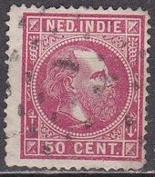 Ned. Indië: 1870 Koning Willem III 50 Cent Karmijn Lijntanding 14 Gr. G.  NVPH 15 B - Indes Néerlandaises