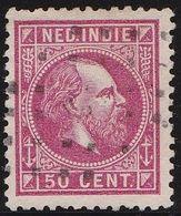 Ned. Indië: 1870 Koning Willem III 50  Cent Karmijroze Kamtanding 12½  Kl. G. NVPH 15 H - Indes Néerlandaises