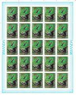 Rwanda - COB 1324 / 27 ** - En Feuilles De 25 - Primates - Singes - Buzin - Valeur 350 Euros - Rwanda
