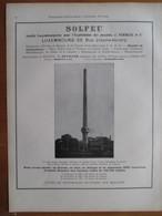 1926 - USINE ROECHLING (Sarre) Cheminée  SOLFEU  Rue Joseph Heintz Luxembourg  Page Originale ARCHITECTURE INDUSTRIELLE - Machines