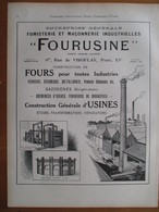 1926 -  Installation Fours Et Cheminées - Ets FOURUSINE Rue De Viroflay Paris  Page Originale ARCHITECTURE INDUSTRIELLE - Machines