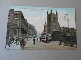 ANGLETERRE NORTHUMBERLAND NEWCASTLE UPON TYNE GRAINGER STREET AND ST. JOHN'S CHURCH - Newcastle-upon-Tyne