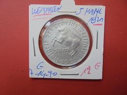 Westfalen (Westphalie) 5 MARK 1921 - 5 Reichsmark