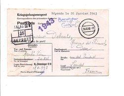 CARTE PRISONNIER DU STALAG IIIB DU 31/12/1942 - Marcofilia (sobres)